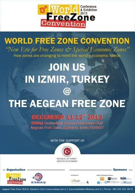 IZMIR AND ESBAS HOST THE WORLD FREE ZONES CONVENTION DECEMBER 11-12