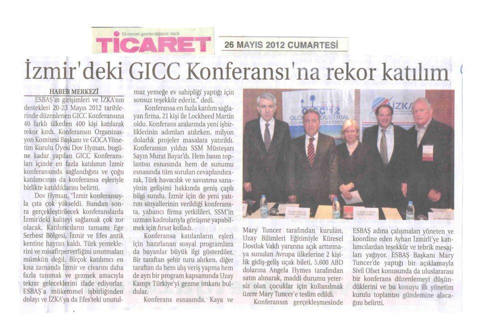 GICC CONFERENCE INTRODUCED IZMIR TO THE WORLD
