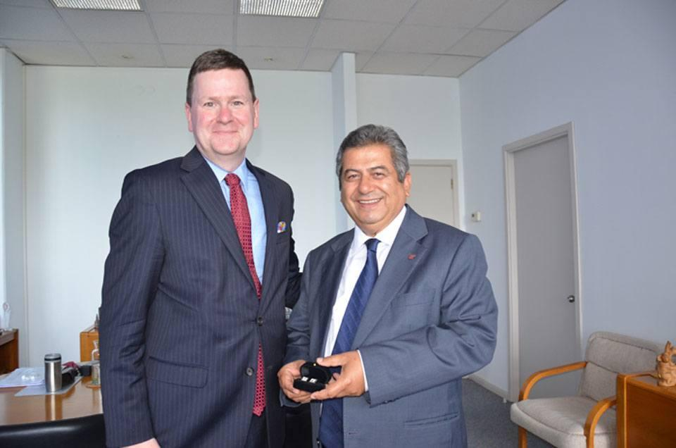 COUNSELOR FOR COMMERCIAL AFFAIRS AT US EMBASSY, MICHAEL LALLY VISITS ESBAS DR. FARUK GÜLER