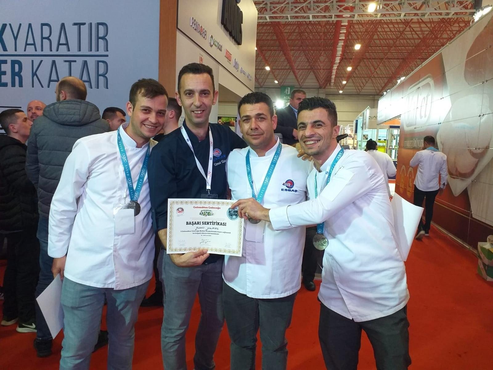 ESBAŞ FOOD SERVICES CHEFS COME IN SECOND WITH 'LAMB'S MEDITERRANEAN JOURNEY' AT FOOD COMPETITON